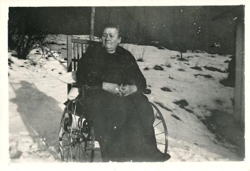 Kajsa Danielsson rulltstol vinter